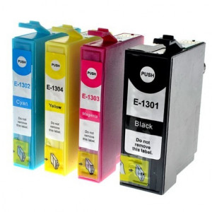 Compatible Extra High Capacity 4 Colour Epson T130 Printer Cartridge Multipack
